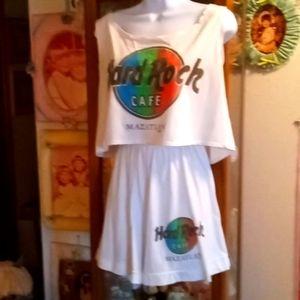 Hard Rock Cafe Mazatlan Shorts Set Made in Mexico
